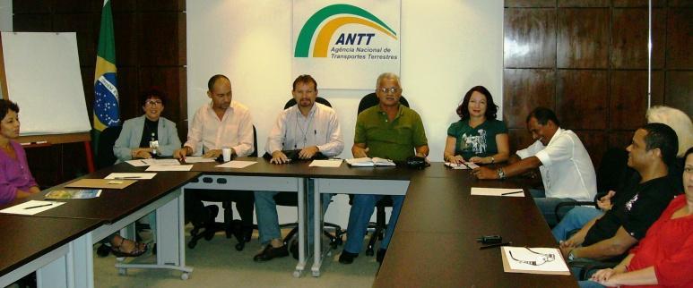 Foto: Reunião na ANTT do Rio de Janeiro (05/05/2008)
