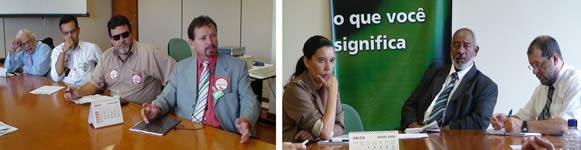 Representantes dos servidores conversam com o Governo