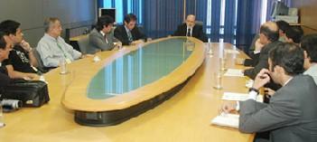 Foto da Reunião com o Presidente da Anatel