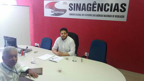 Alexnaldo Queiroz de Jesus (SG Sinagências)  e Antonio Eleutério (Presidente da ASSDNPM).