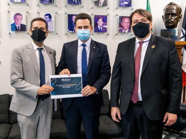 Líder do PTB na Câmara Federal, deputado Nivaldo Albuquerque (PTB-AL), recebeu o Sinagências